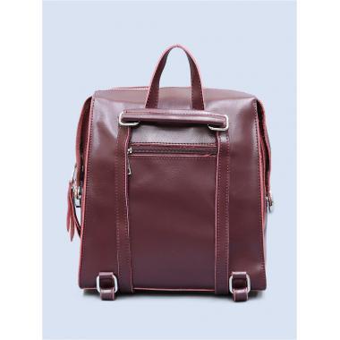 Кожаный рюкзак-трансформер GRANDY. Ежевичный