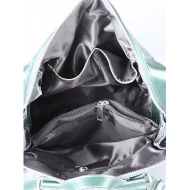 Кожаный рюкзак-трансформер GRANDY. Темно-зеленый