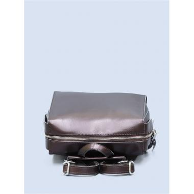 Кожаный рюкзак-трансформер GRANDY. Шоколад