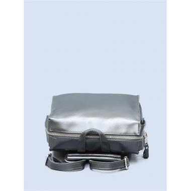Кожаный рюкзак-трансформер GRANDY. Стальной