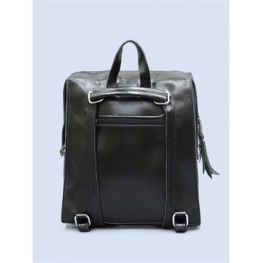 Кожаный рюкзак-трансформер GRANDY. Черный