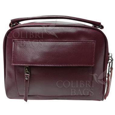 Женская кожаная сумка Gretta. Ежевичный.