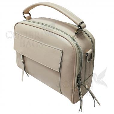 Женская кожаная сумка Gretta. Слоновая кость.