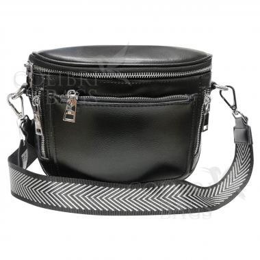 Женская кожаная сумка Hors.  Черный