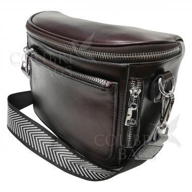 Женская кожаная сумка Hors. Кофе жемчужный