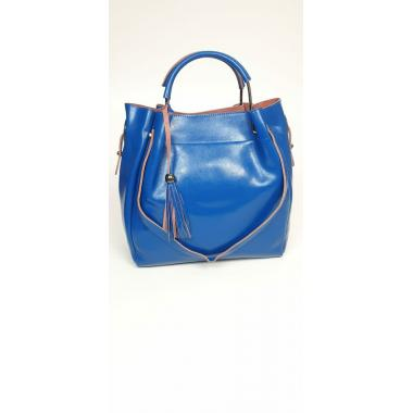 Женская кожаная сумка ILLARIYA LETO. Ярко-синий.