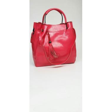 Женская кожаная сумка ILLARIYA LETO. Коралловый.