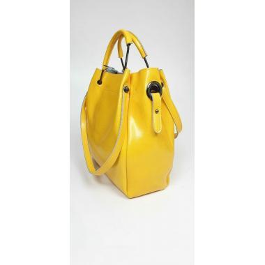 Женская кожаная сумка ILLARIYA LETO. Манговый.
