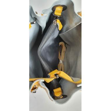 Женская кожаная сумка ILLARIYA LETO. Лимонный.