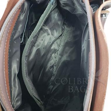 Женская кожаная сумка ILLARIYA. ПУДРОВЫЙ.