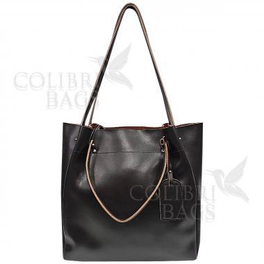 Женская кожаная сумка ILLARIYA. ШОКОЛАД.