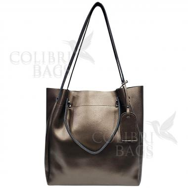 Женская кожаная сумка ILLARIYA.  БРОНЗА.