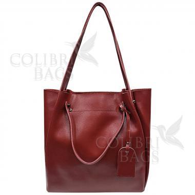 Женская кожаная сумка ILLARIYA. ГРАНАТ.