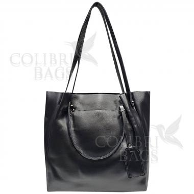 Женская кожаная сумка ILLARIYA. СТАЛЬНОЙ.