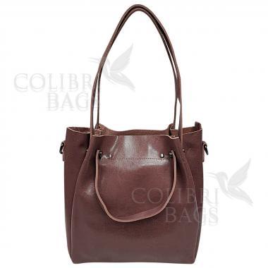 Женская кожаная сумка Illariya. Лиловый