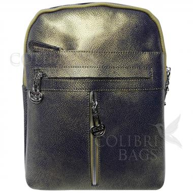 Кожаный рюкзак-сумка  INDIKA CASUAL. Хамелеон.