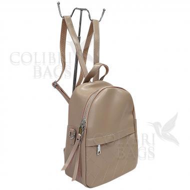 Кожаный рюкзкак Indika Gala Diagonal. Бежевый