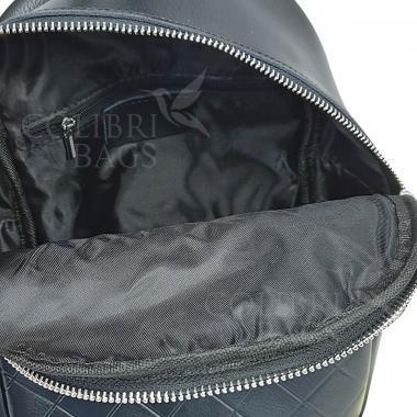 Кожаный рюкзкак Indika Gala Diagonal. Черный