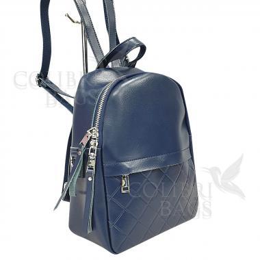 Кожаный рюкзкак Indika Gala Diagonal. Темно-синий
