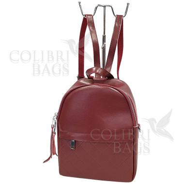 Кожаный рюкзкак Indika Gala Diagonal. Гранат