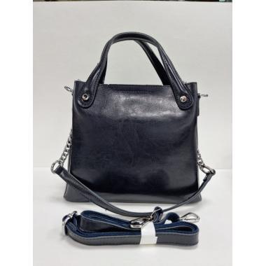 Женская кожаная сумка INDURO. Темно-синий