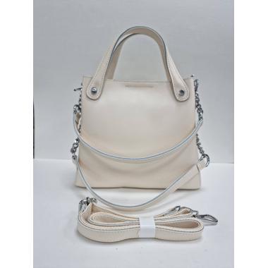 Женская кожаная сумка INDURO. Слоновая кость