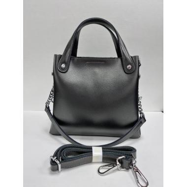Женская кожаная сумка INDURO. Стальной