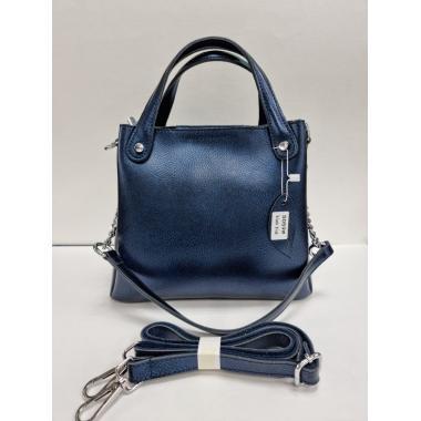 Женская кожаная сумка INDURO. Сапфир
