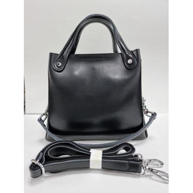 Женская кожаная сумка INDURO. Черный