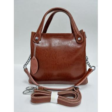 Женская кожаная сумка INDURO. Охра