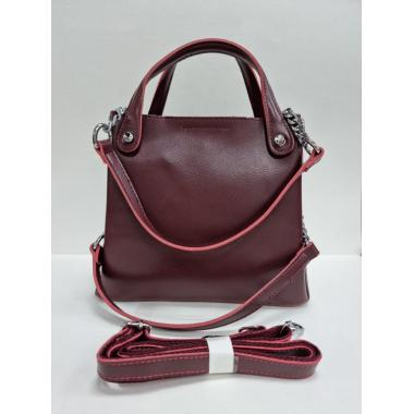 Женская кожаная сумка INDURO. Ежевичный