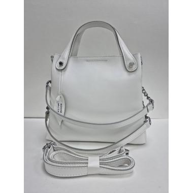 Женская кожаная сумка INDURO. Белый