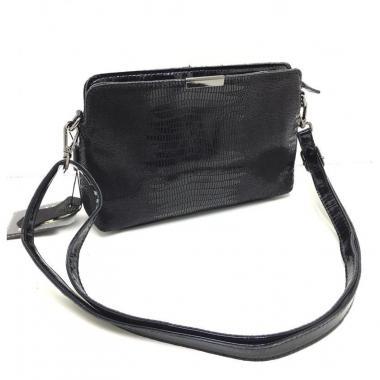 Женская кожаная сумка INGRID КЛАТЧ. Черный