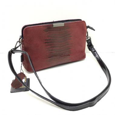 Женская кожаная сумка INGRID КЛАТЧ. Гранат