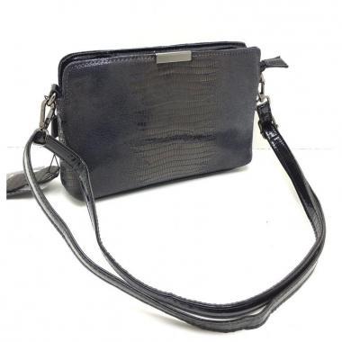 Женская кожаная сумка INGRID КЛАТЧ. Пепельный
