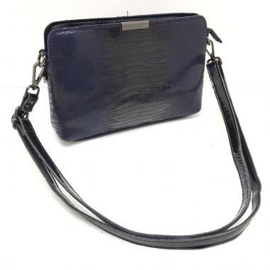 Женская кожаная сумка INGRID КЛАТЧ. Темно-синий