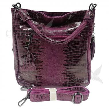 Женская кожаная сумка Ingrid Nova. Ежевичный.