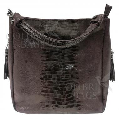 Женская кожаная сумка Ingrid Nova. Шоколад