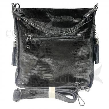 Женская кожаная сумка Ingrid Nova. Пепельный