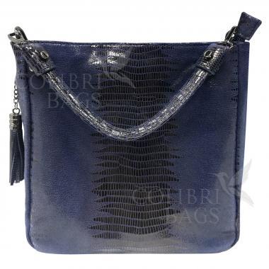 Женская кожаная сумка Ingrid Nova. Темно-синий