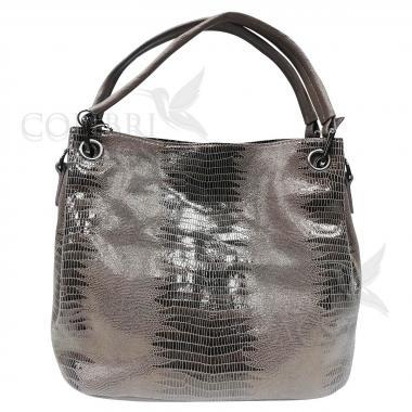 Женская кожаная сумка Ingrid Nova Midi. Песочный