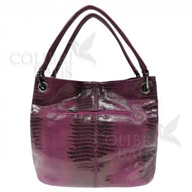 Женская кожаная сумка Ingrid Nova Midi. Ежевичный.