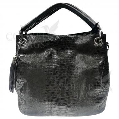Женская кожаная сумка Ingrid Nova Midi. Черный