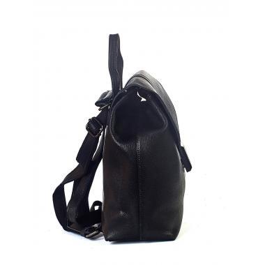 Кожаный рюкзак-трансформер INSULA. Черный