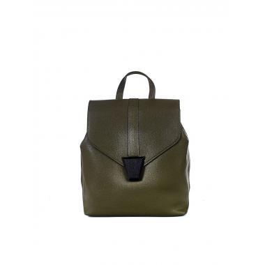 Кожаный рюкзак-трансформер INSULA. Горчичный