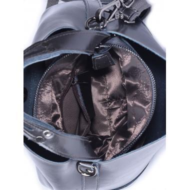 Женская кожаная сумка JULIA Кожа. Черный