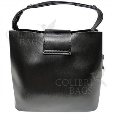 Женская кожаная сумка Julia Замша. Черный.