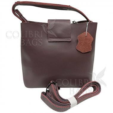 Женская кожаная сумка Julia Замша. Пудровый.