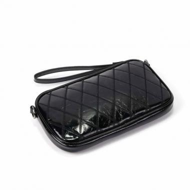 Женская кожаная сумка KALINKA КЛАТЧ. Черный