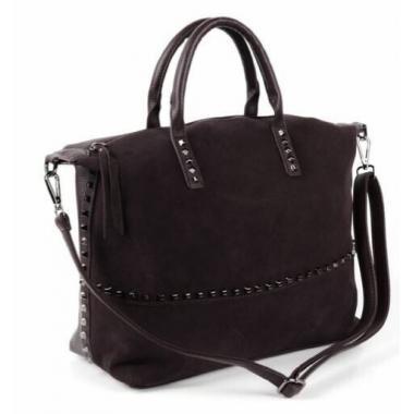 Женская кожаная сумка KASTA. Шоколад